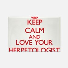 Keep Calm and love your Herpetologist Magnets