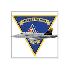 Carrier Air Wing FIVE Rectangle Sticker