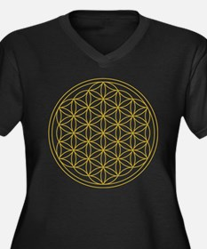 Flower of Life Gold Plus Size T-Shirt