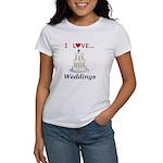 I Love Weddings Women's T-Shirt