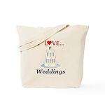 I Love Weddings Tote Bag