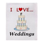 I Love Weddings Throw Blanket