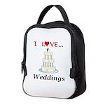 I Love Weddings Neoprene Lunch Bag