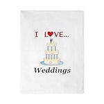 I Love Weddings Twin Duvet