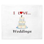I Love Weddings King Duvet