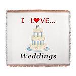 I Love Weddings Woven Blanket