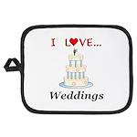 I Love Weddings Potholder