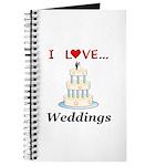 I Love Weddings Journal