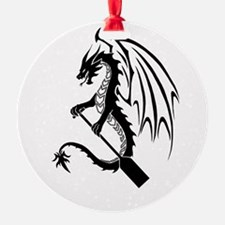 Dragon with paddle logo Ornament