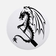 Dragon with paddle logo Ornament (Round)