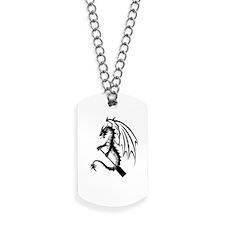 Dragon with paddle logo Dog Tags
