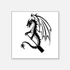 Dragon with paddle logo Sticker