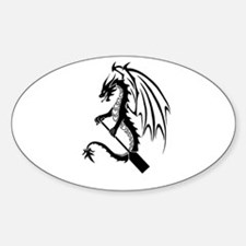Dragon with paddle logo Bumper Stickers