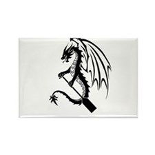 Dragon with paddle logo Magnets