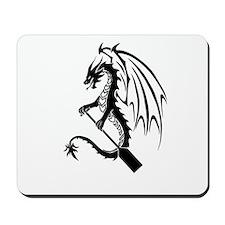 Dragon with paddle logo Mousepad