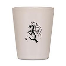 Dragon with paddle logo Shot Glass