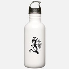 Dragon with paddle logo Sports Water Bottle