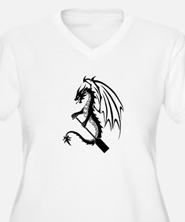 Dragon with paddle logo Plus Size T-Shirt