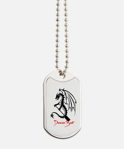 Dragon Boat red Text Dog Tags