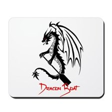 Dragon Boat red Text Mousepad