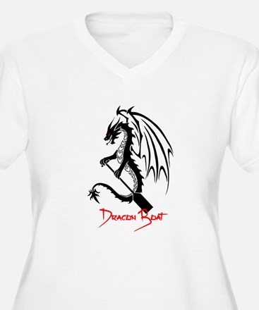 Dragon Boat red Text Plus Size T-Shirt