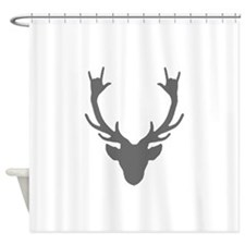 Reindeer with I Love You hand gesture Shower Curta