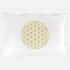 Flower Of Life Gold Pillow Case