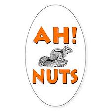 Ah! Nuts Chipmunk Oval Decal