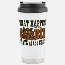 Happens At The Cabin Stainless Steel Travel Mug