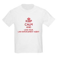 Keep Calm and love your Law Enforcement Ag T-Shirt