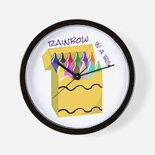 Crayon Rainbow Wall Clock