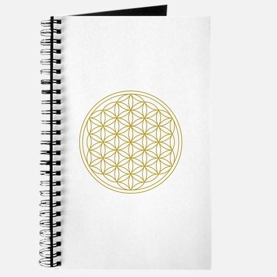 Flower Of Life Gold Journal