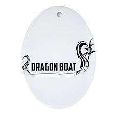 Funny Dragon boat Ornament (Oval)