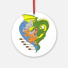 Dragon boat 9 Ornament (Round)