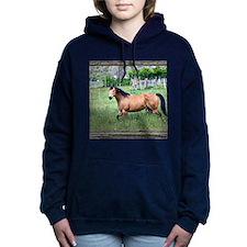Old window horse 2 Women's Hooded Sweatshirt