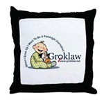 Groklaw Baby Throw Pillow