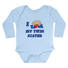 Unique I love my sister Long Sleeve Infant Bodysuit