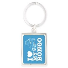 Cute Outdoor camping Portrait Keychain
