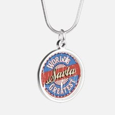 World's Greatest Savta Silver Round Necklace