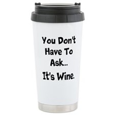 Wine. Travel Mug