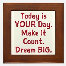 Make It Count Framed Tile
