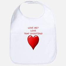 i love trap shooting Bib