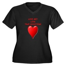 i love trap shooting Plus Size T-Shirt