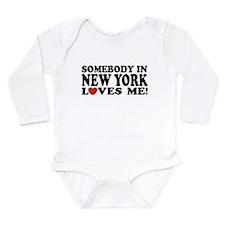 Funny Big apple Long Sleeve Infant Bodysuit