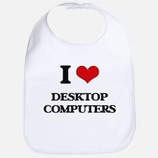 I Love Desktop Computers Bib