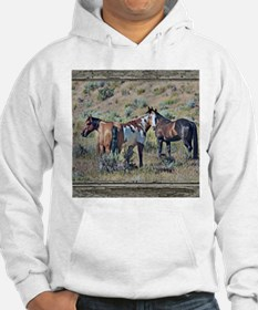Old window horses 3 Hoodie Sweatshirt