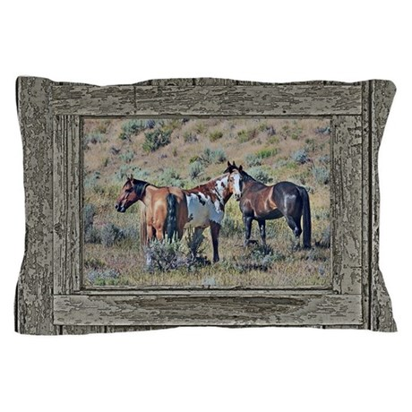 Old window horses 3 pillow case by saltern for Window horses