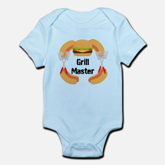 Grill Master Hamburgers Hot Dots Body Suit