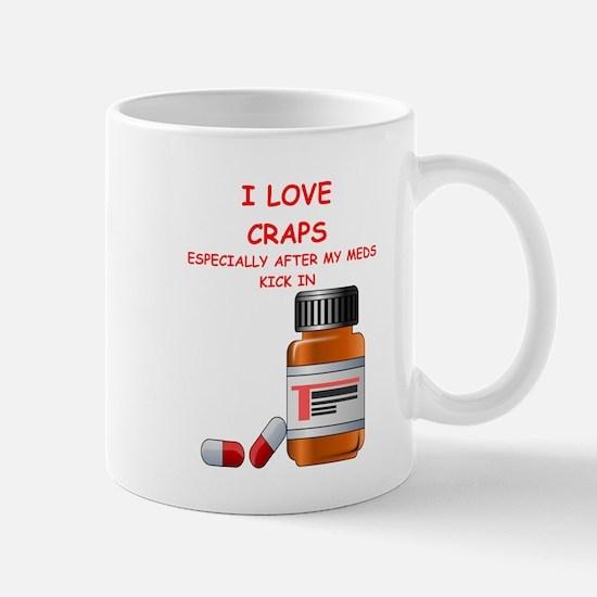 i love craps Mugs