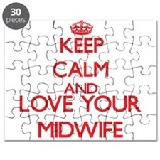 Keep Calm and love your Midwife Puzzle